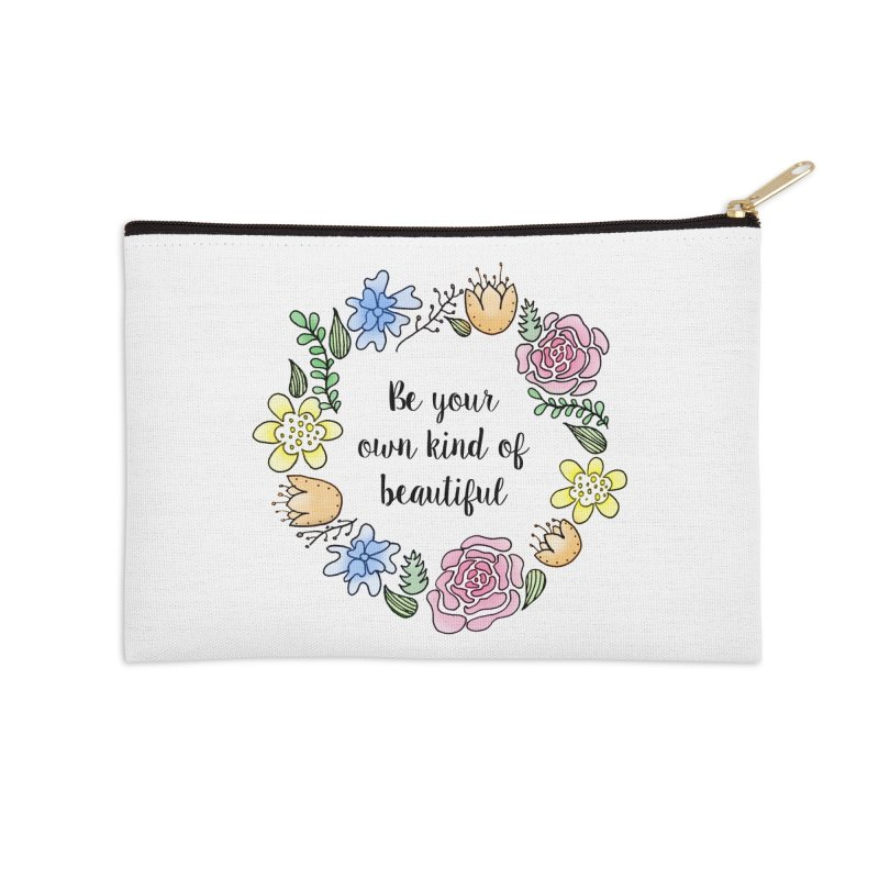 Flowers // Be Accessories Zip Pouch by josmithcreative's Artist Shop