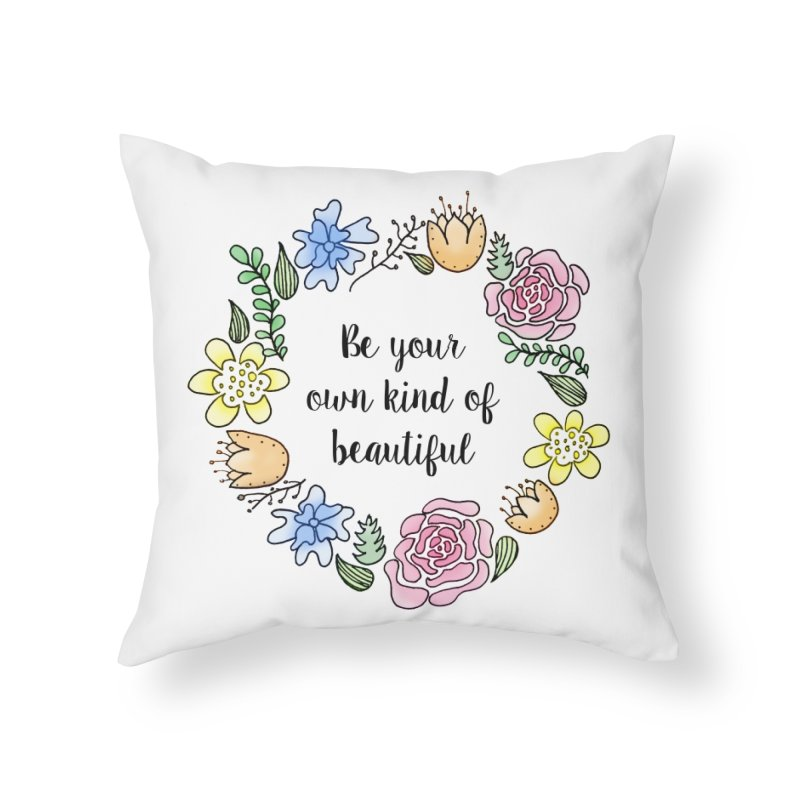 Flowers // Be Home Throw Pillow by josmithcreative's Artist Shop