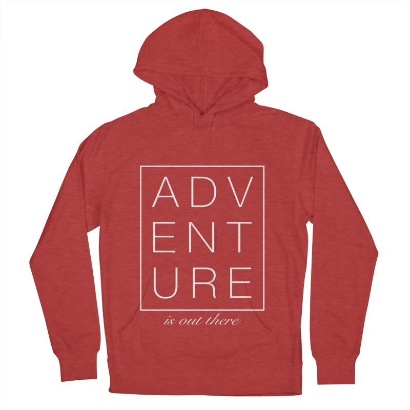 ADVENTURE // White Men's Pullover Hoody by josmithcreative's Artist Shop