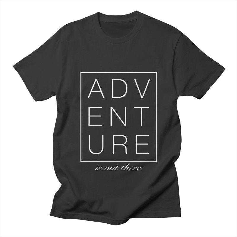ADVENTURE // White Men's T-shirt by josmithcreative's Artist Shop