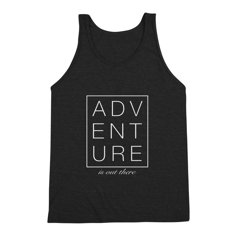 ADVENTURE // White Men's Triblend Tank by josmithcreative's Artist Shop