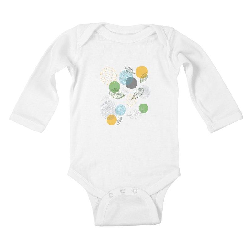 NATURE // spots & leaves Kids Baby Longsleeve Bodysuit by josmithcreative's Artist Shop