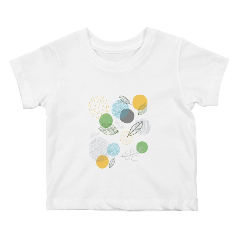 NATURE // spots & leaves Kids Baby T-Shirt by josmithcreative's Artist Shop