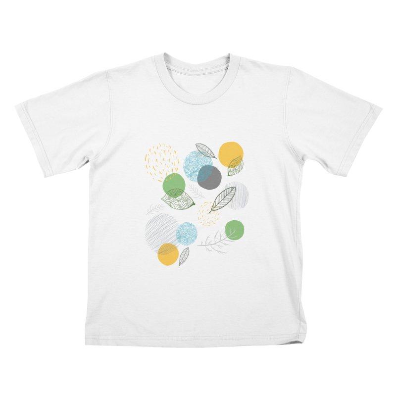 NATURE // spots & leaves Kids T-shirt by josmithcreative's Artist Shop