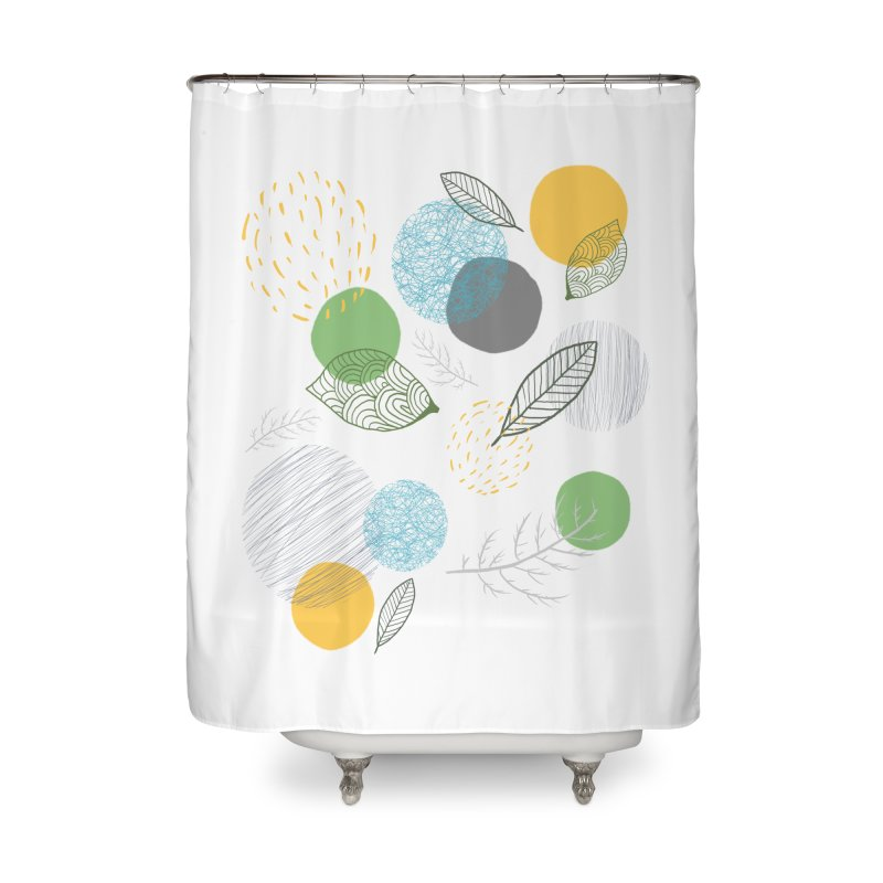 NATURE // spots & leaves Home Shower Curtain by josmithcreative's Artist Shop