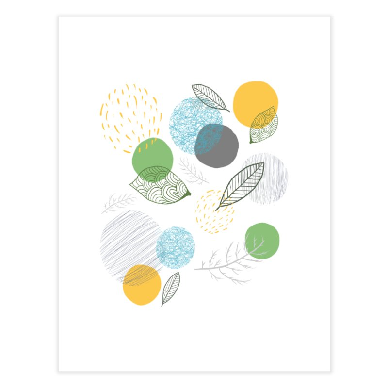 NATURE // spots & leaves Home Fine Art Print by josmithcreative's Artist Shop