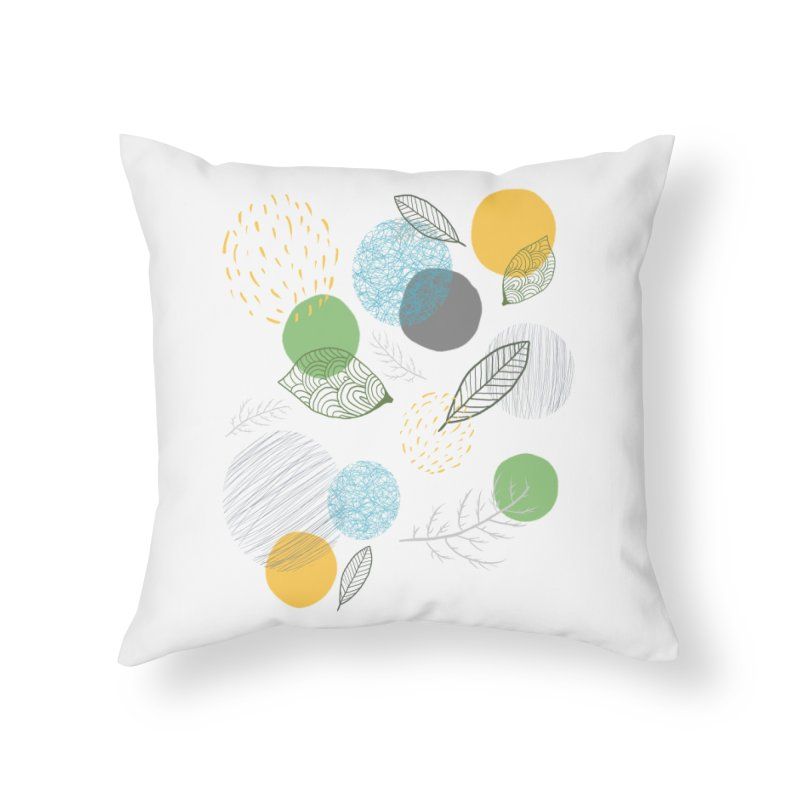 NATURE // spots & leaves Home Throw Pillow by josmithcreative's Artist Shop