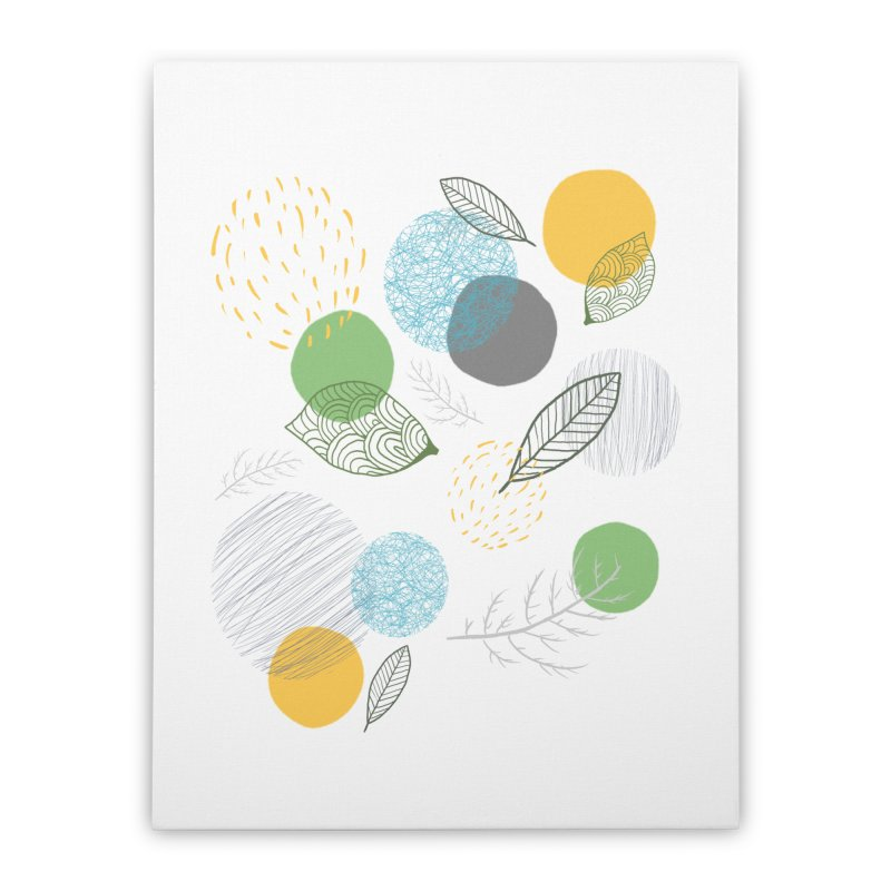 NATURE // spots & leaves Home Stretched Canvas by josmithcreative's Artist Shop