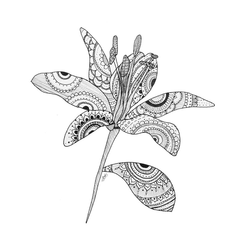 Paisley Flower // Lily None  by josmithcreative's Artist Shop