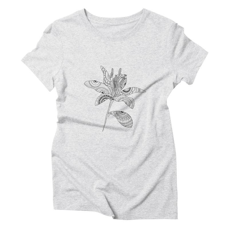 Paisley Flower // Lily Women's Triblend T-shirt by josmithcreative's Artist Shop