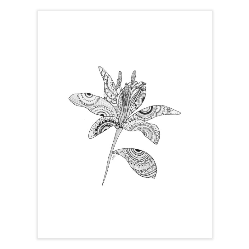 Paisley Flower // Lily Home Fine Art Print by josmithcreative's Artist Shop