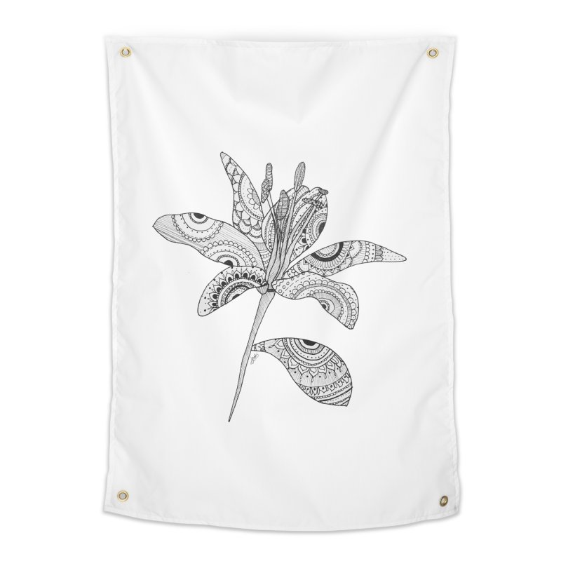 Paisley Flower // Lily Home Tapestry by josmithcreative's Artist Shop