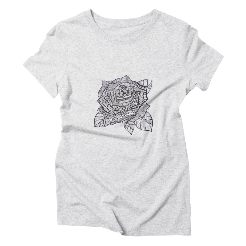 Paisley Flower // Rose Women's Triblend T-shirt by josmithcreative's Artist Shop