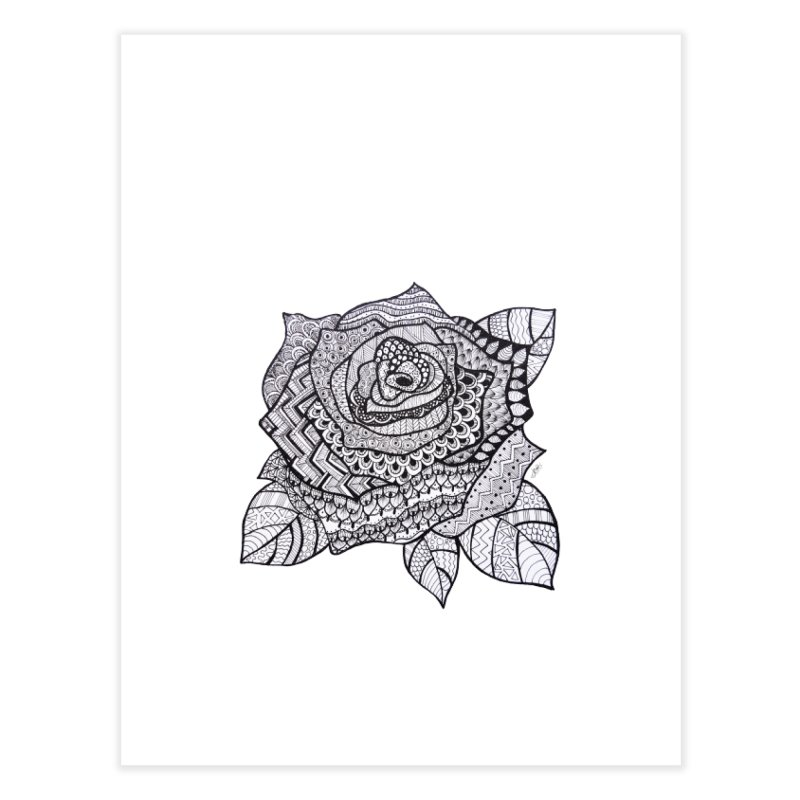 Paisley Flower // Rose Home Fine Art Print by josmithcreative's Artist Shop