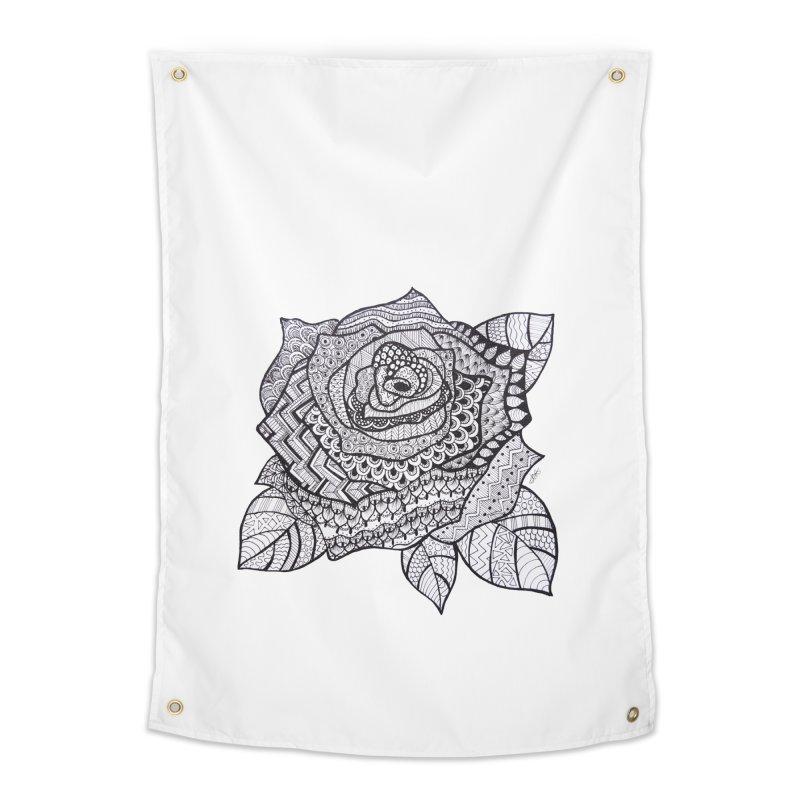 Paisley Flower // Rose Home Tapestry by josmithcreative's Artist Shop