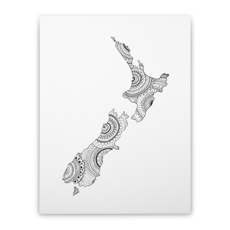 New Zealand Home Stretched Canvas by josmithcreative's Artist Shop