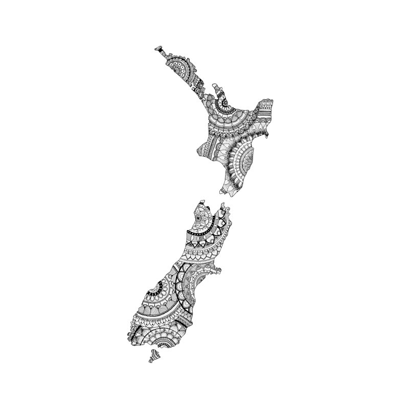 New Zealand Map // Mandala by josmithcreative's Artist Shop
