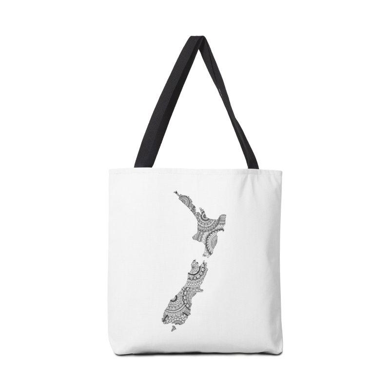 New Zealand Map // Mandala Accessories Bag by josmithcreative's Artist Shop