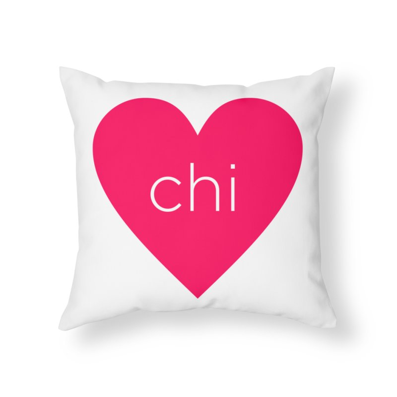 Chi Love Home Throw Pillow by Jost Sauer Chi Cycle Lifestyle