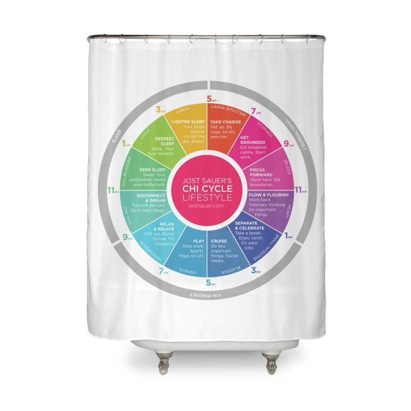 Chi Cycle Wheel Home Shower Curtain by Jost Sauer Chi Cycle Lifestyle