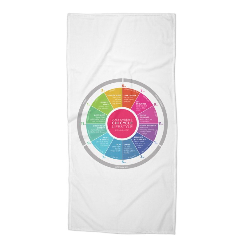 Chi Cycle Wheel Accessories Beach Towel by Jost Sauer Chi Cycle Lifestyle