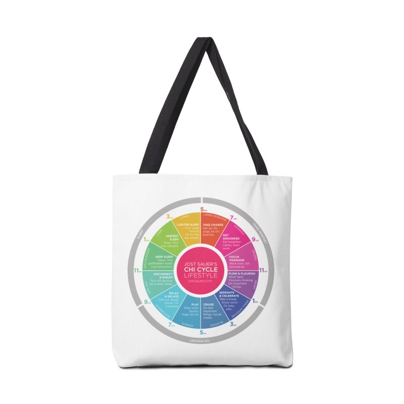 Chi Cycle Wheel Accessories Tote Bag Bag by Jost Sauer Chi Cycle Lifestyle
