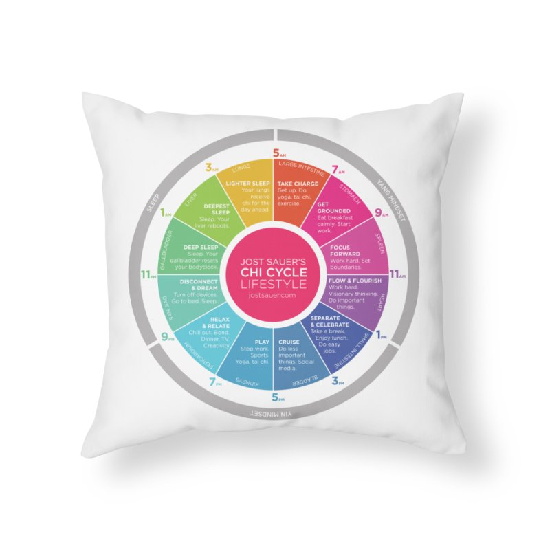 Chi Cycle Wheel Home Throw Pillow by Jost Sauer Chi Cycle Lifestyle