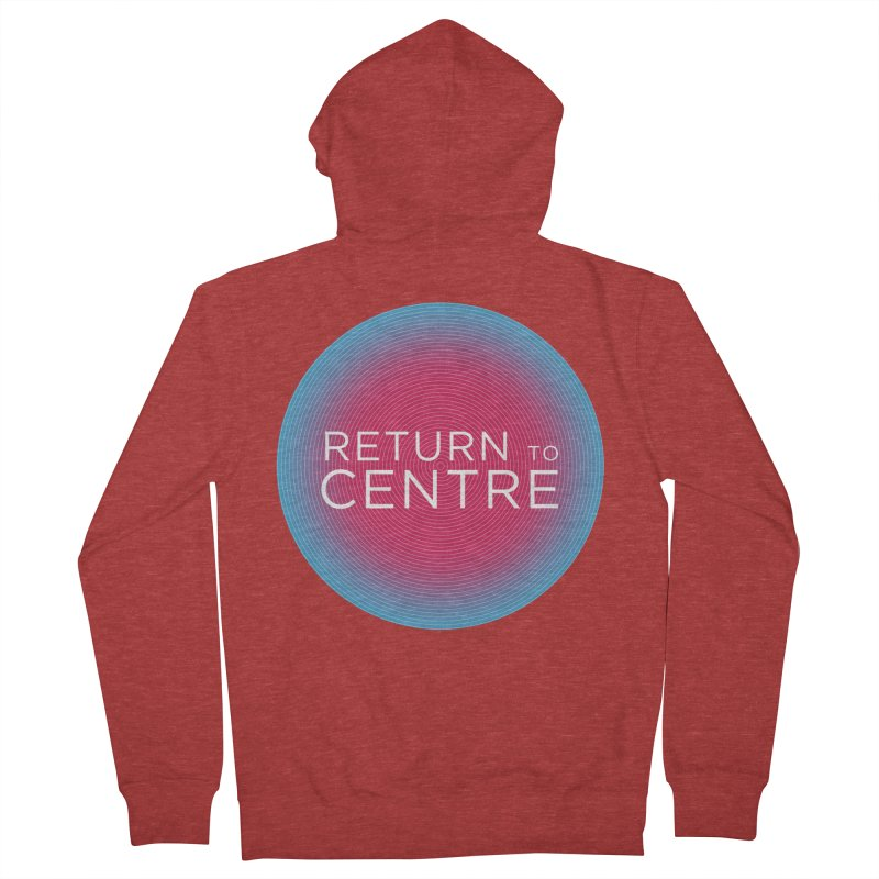 Return to Centre Men's French Terry Zip-Up Hoody by Jost Sauer Chi Cycle Lifestyle