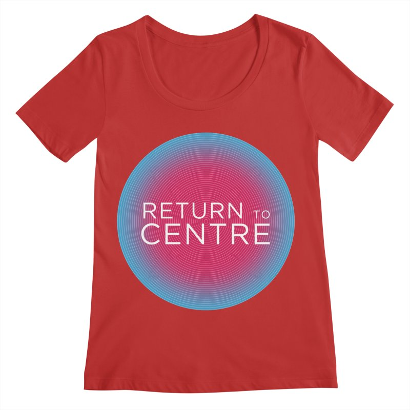 Return to Centre Women's Regular Scoop Neck by Jost Sauer Chi Cycle Lifestyle
