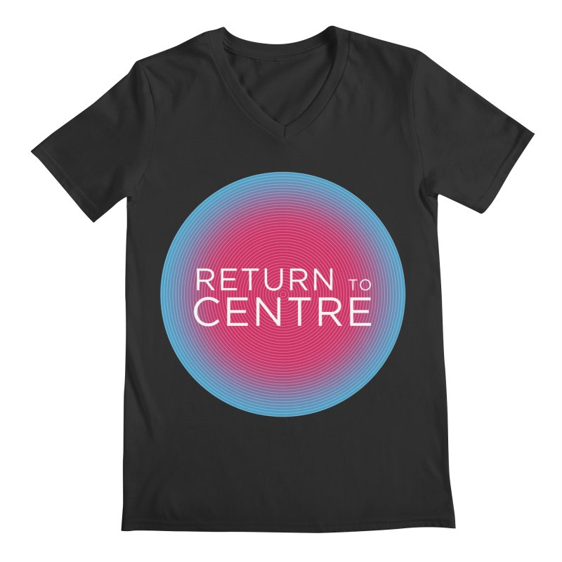 Return to Centre Men's Regular V-Neck by Jost Sauer Chi Cycle Lifestyle