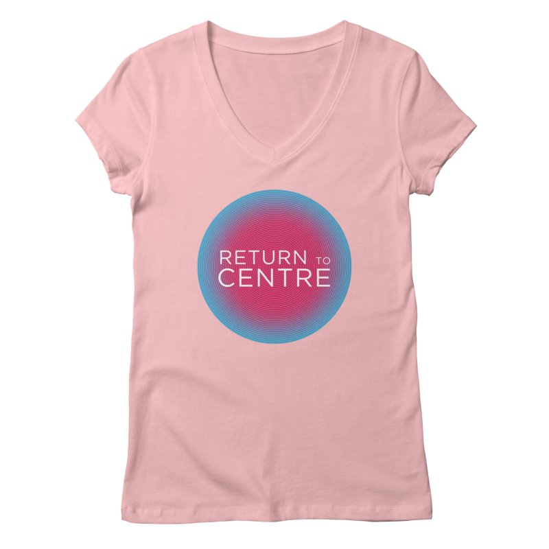 Return to Centre Women's Regular V-Neck by Jost Sauer Chi Cycle Lifestyle