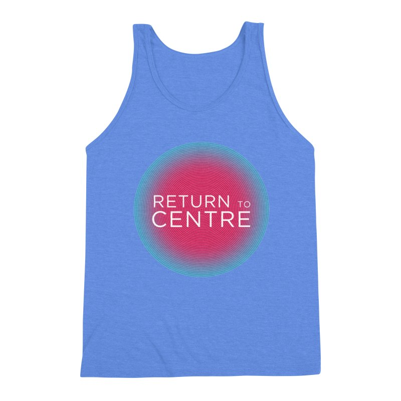 Return to Centre Men's Triblend Tank by Jost Sauer Chi Cycle Lifestyle