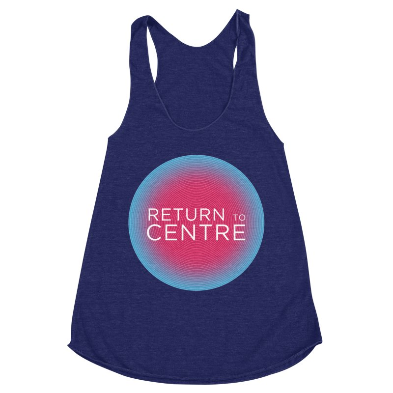 Return to Centre Women's Racerback Triblend Tank by Jost Sauer Chi Cycle Lifestyle