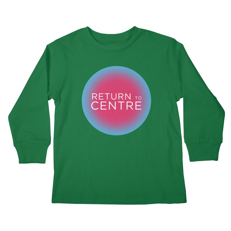 Return to Centre Kids Longsleeve T-Shirt by Jost Sauer Chi Cycle Lifestyle