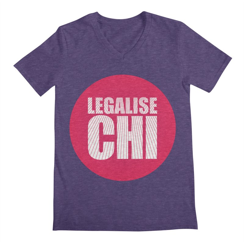 Legalise Chi Men's Regular V-Neck by Jost Sauer Chi Cycle Lifestyle