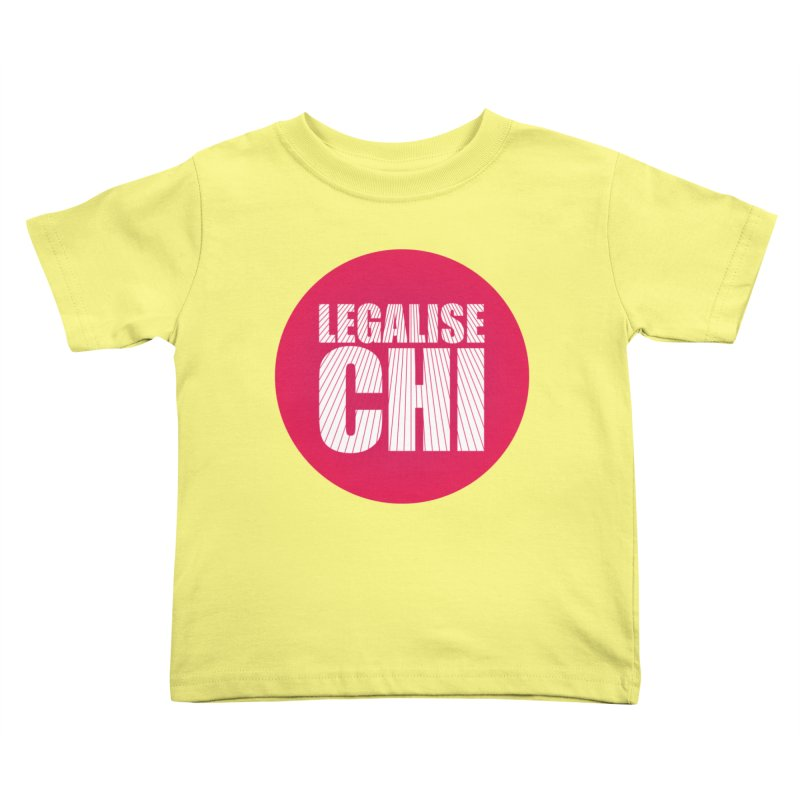 Legalise Chi Kids Toddler T-Shirt by Jost Sauer Chi Cycle Lifestyle