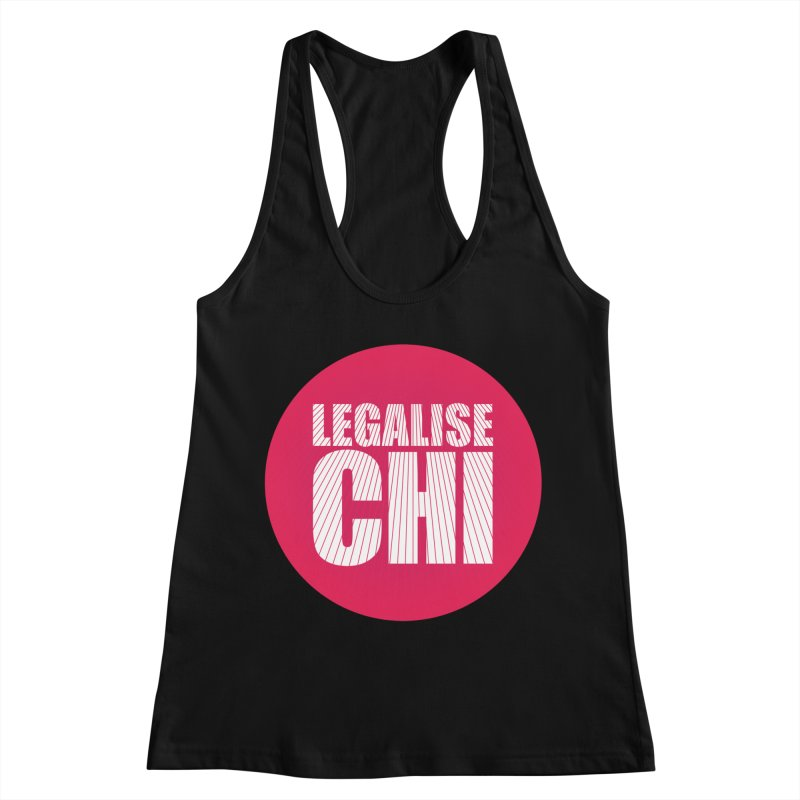 Legalise Chi Women's Racerback Tank by Jost Sauer Chi Cycle Lifestyle