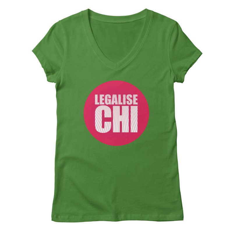 Legalise Chi Women's Regular V-Neck by Jost Sauer Chi Cycle Lifestyle