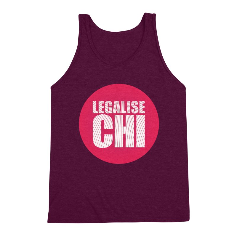 Legalise Chi Men's Triblend Tank by Jost Sauer Chi Cycle Lifestyle