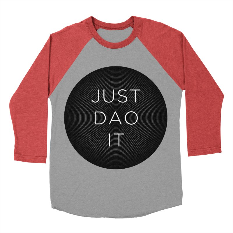 Just Dao it Men's Baseball Triblend Longsleeve T-Shirt by Jost Sauer Chi Cycle Lifestyle