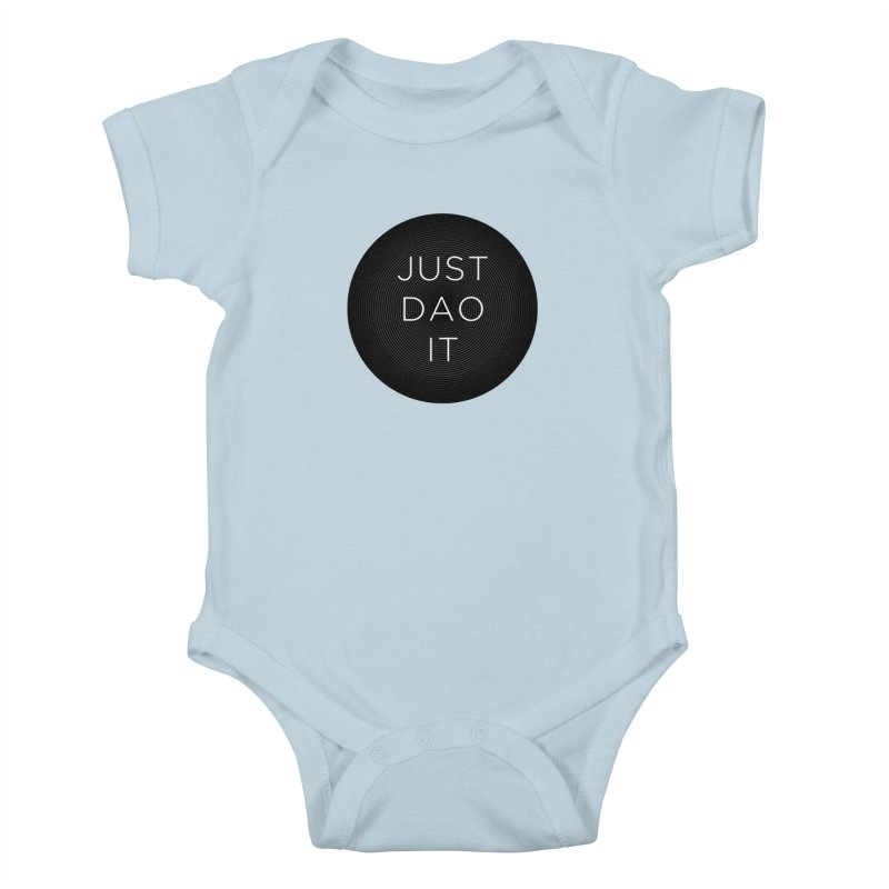 Just Dao it in Kids Baby Bodysuit Baby Blue by Jost Sauer Chi Cycle Lifestyle