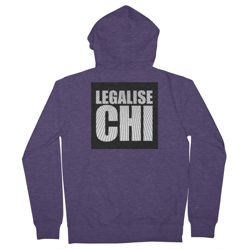 Legalise Chi Men's French Terry Zip-Up Hoody by Jost Sauer Chi Cycle Lifestyle
