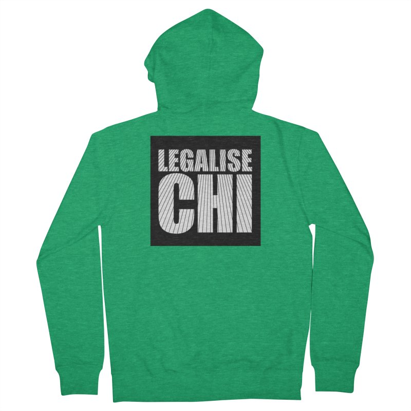 Legalise Chi Men's Zip-Up Hoody by Jost Sauer Chi Cycle Lifestyle