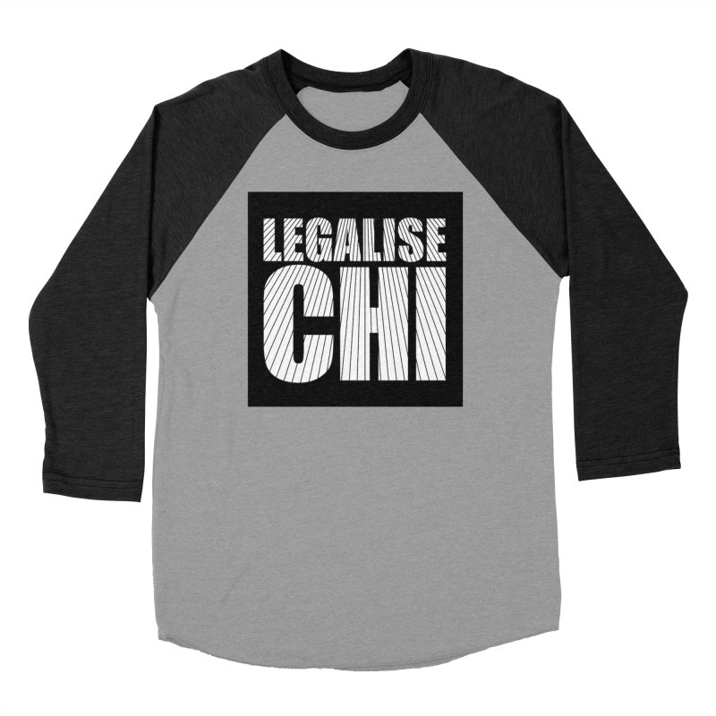 Legalise Chi Women's Baseball Triblend Longsleeve T-Shirt by Jost Sauer Chi Cycle Lifestyle