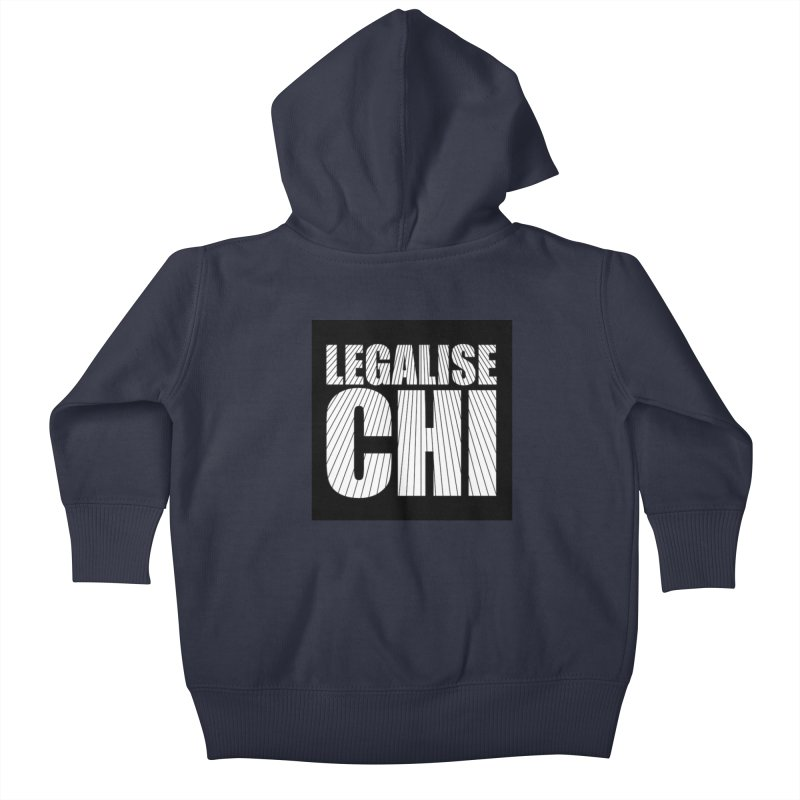 Legalise Chi Kids Baby Zip-Up Hoody by Jost Sauer Chi Cycle Lifestyle