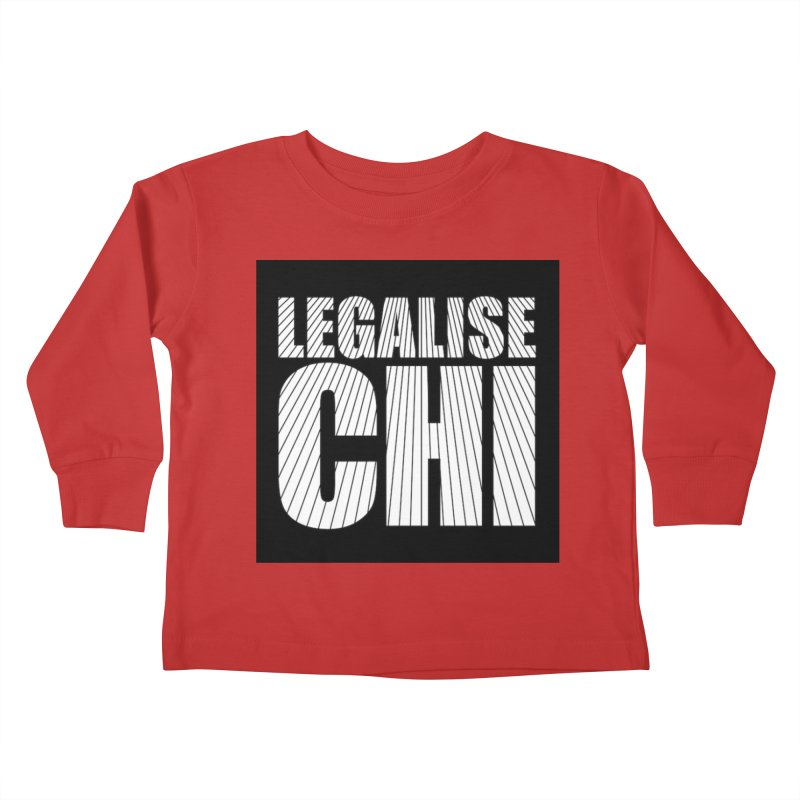 Legalise Chi Kids Toddler Longsleeve T-Shirt by Jost Sauer Chi Cycle Lifestyle