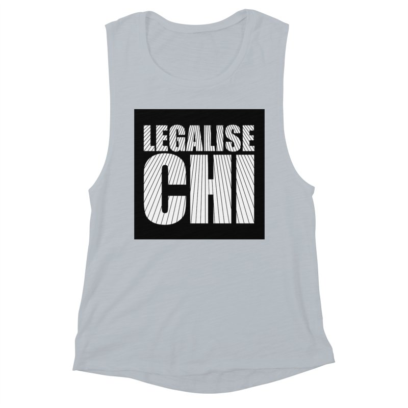 Legalise Chi Women's Muscle Tank by Jost Sauer Chi Cycle Lifestyle