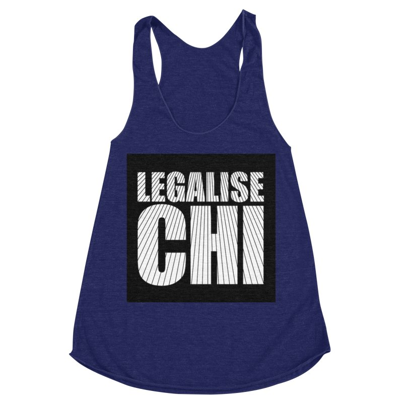 Legalise Chi Women's Racerback Triblend Tank by Jost Sauer Chi Cycle Lifestyle