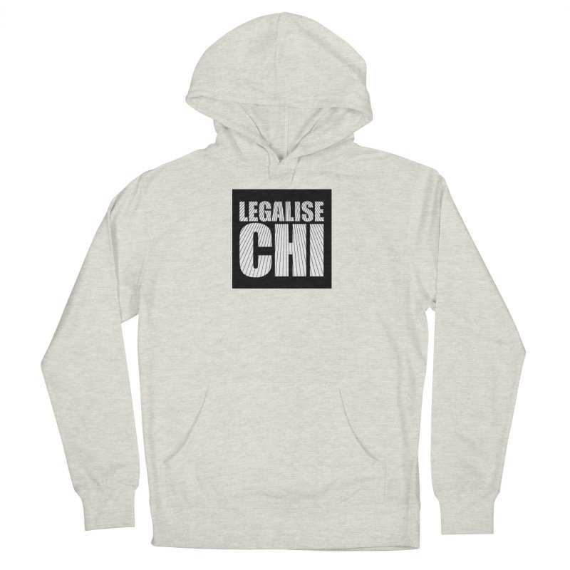 Legalise Chi Black Men's French Terry Pullover Hoody by Jost Sauer Chi Cycle Lifestyle