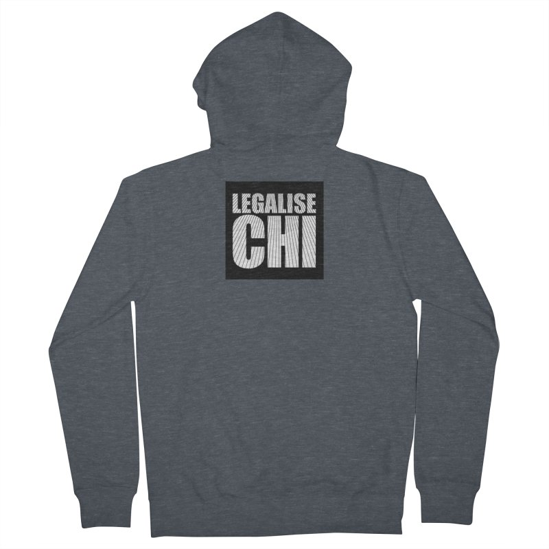 Legalise Chi Black Men's French Terry Zip-Up Hoody by Jost Sauer Chi Cycle Lifestyle
